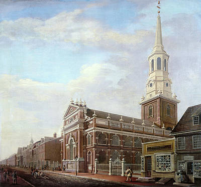 Streetscape Painting - Philadelphia Street, 1811 by Granger