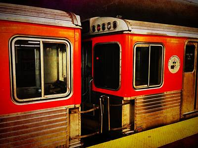 Photograph - Philadelphia - Subway Train 1 by Richard Reeve