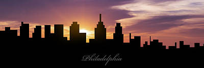 Philadelphia Sunset Print by Aged Pixel