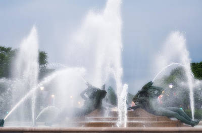 Water Fountain Digital Art - Philadelphia - Swann Memorial Fountain by Bill Cannon