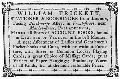 Philadelphia Trade Card Art Print