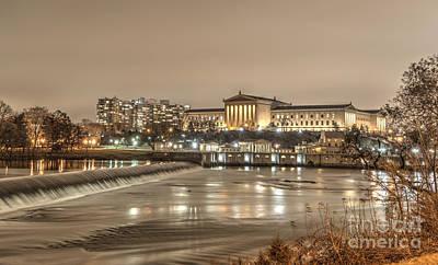 Philadelphia's Art Museum At Night Print by Mark Ayzenberg