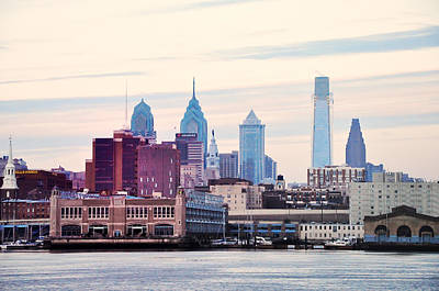 Phillies Photograph - Philadelphia's Delaware River Waterfront by Bill Cannon