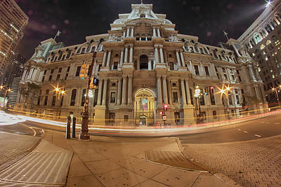 Photograph - Philadelphia's Golden Glow  by Paul Watkins