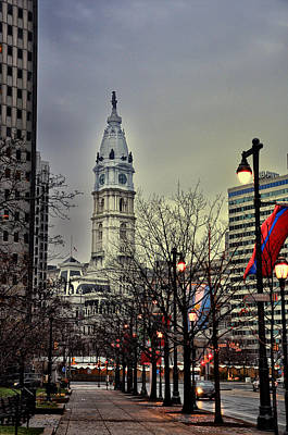 Phillies Digital Art - Philadelphia's Iconic City Hall by Bill Cannon