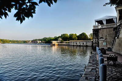 Boathouse Photograph - Philadelphia's Waterworks And Boathouse Row by Bill Cannon