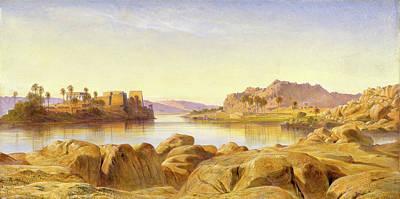 Philae, Egypt, Edward Lear, 1812-1888 Art Print by Litz Collection