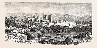 Philae. Egypt, Engraving 1879 Art Print