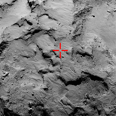 Philae Lander Touchdown Point On Comet Art Print by Science Source