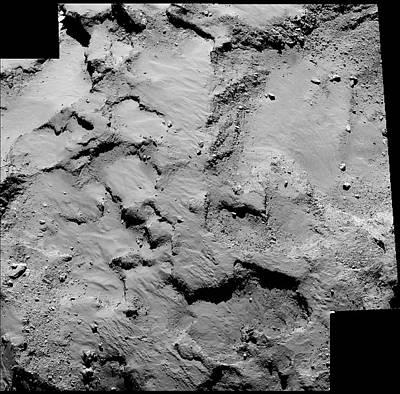 Mosaic Photograph - Philae Probe Landing Site by Esa/rosetta/mps For Osiris Team Mps/upd/lam/iaa/sso/inta/upm/dasp/ida