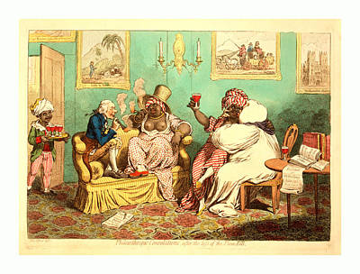 Glass Of Wine Drawing - Philanthropic Consolations, After The Loss by English School