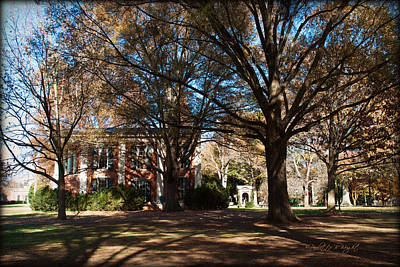 Photograph - Philanthropic Hall And The Well - Davidson College by Paulette B Wright