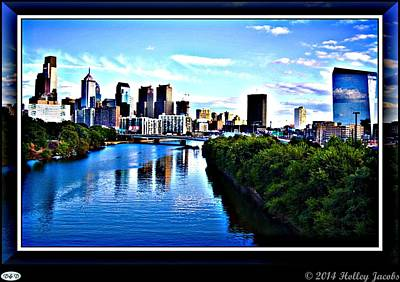 Digital Art - Philedelphia by Holley Jacobs