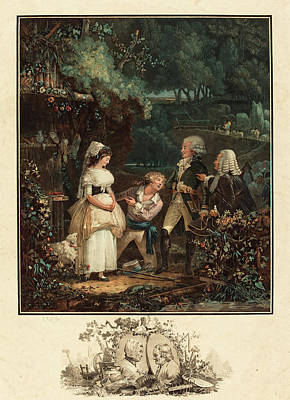 Wash Drawing - Philibert-louis Debucourt French, 1755 - 1832, Annette Et by Quint Lox