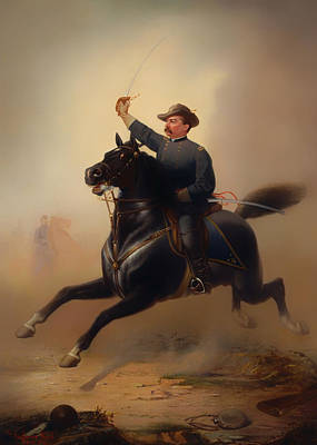 Famous Horse Art Painting - Philip Henry Sheridan by Mountain Dreams