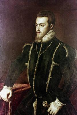 Prince Philip Painting - Philip II Of Spain (1527-1598) by Granger