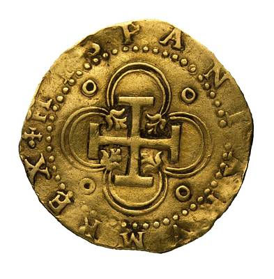 Doubloon Photograph - Philip II Of Spains Golden Coin, Coined by Everett