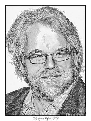 Drawing - Philip Seymour Hoffman In 2006 by J McCombie
