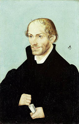 Reformer Drawing - Philipp Melanchthon, Church Reformer, Workshop Of Lucas by Litz Collection