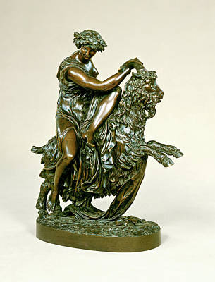 Laurent Drawing - Philippe-laurent Roland, Bacchante With A Goat by Quint Lox