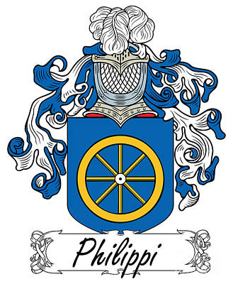 Philippi Coat Of Arms Di Firenze Art Print by Heraldry