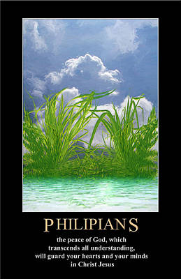 Digital Art - Philippians 4 by John Haldane