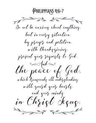 Philippians 4 Art Print