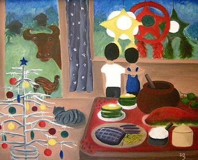 Painting - Philippine Christmas by Victoria Lakes