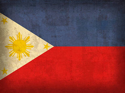 Flag Mixed Media - Philippines Flag Vintage Distressed Finish by Design Turnpike