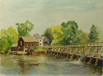 Painting - Philipsburg Manor Tarritown by Nicolas Bouteneff
