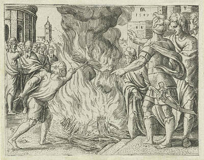 Philistines Burned Samsons Wife And Father Art Print