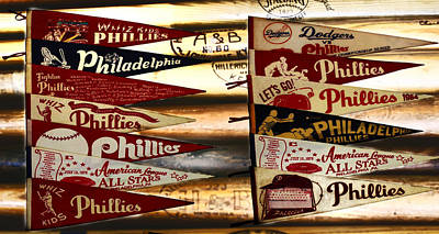 Baseball Photograph - Phillies Pennants by Bill Cannon