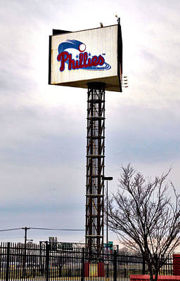 Stadium Digital Art - Phillies Stadium Sign by Bill Cannon
