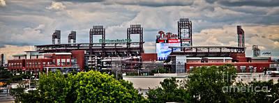 Phillies Stadium Art Print by Stacey Granger
