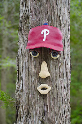 Baseball. Philadelphia Phillies Photograph - Phillies Tree Of Life by Bill Cannon