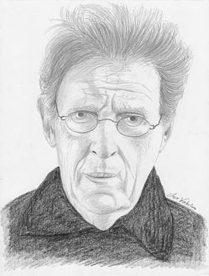 Drawing - Phillip Glass by M Valeriano