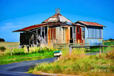 Photograph - Phillip Island Shed by Stuart Row