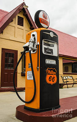 Photograph - Phillips 66 Ethyl In Baxter Springs Kansas by Deborah Smolinske