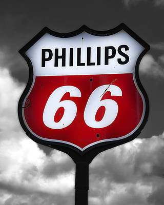 Photograph - Phillips 66 Shield by Steve Hurt