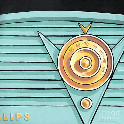 Painting - Phillips Radio - Aqua by Larry Hunter