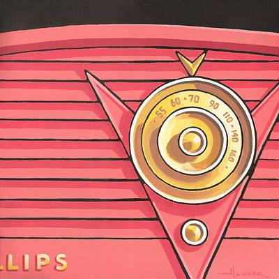 Painting - Phillips Radio - Coral by Larry Hunter