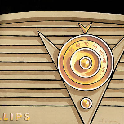 Painting - Phillips Radio - Tan by Larry Hunter