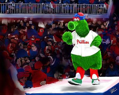 Philly Phanatic Art Print by Randy Hulshizer