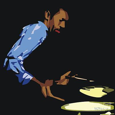 African-american Digital Art - Philly Joe Jones by Walter Oliver Neal