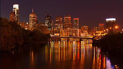 Photograph - Philly Lights Reflected by Michael Porchik