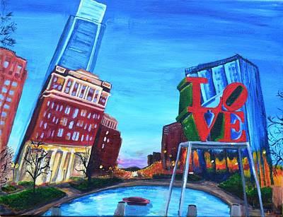 Philadelphia Pa Painting - Philly Love by Jennifer Virgin