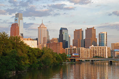 City Photograph - Philly Summer Skyline by Jennifer Ancker