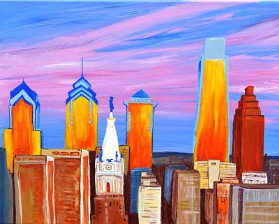 Philadelphia Pa Painting - Philly Sunrise by Jennifer Virgin