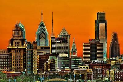 Philadelphia Skyline Photograph - Philly Sunset by Nick Zelinsky