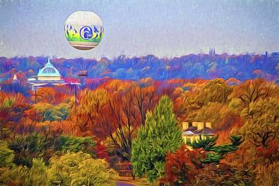 Photograph - Philly Zoo Balloon Fall Colors by Alice Gipson